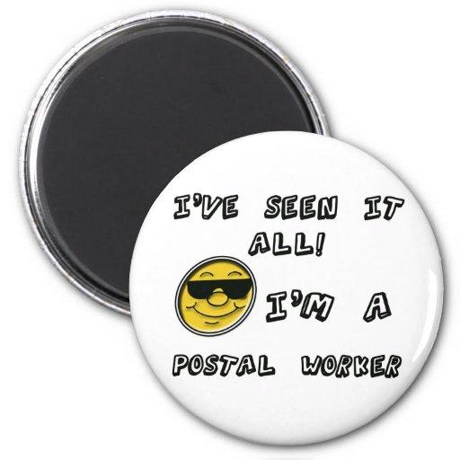 Empleado de correos imán redondo 5 cm