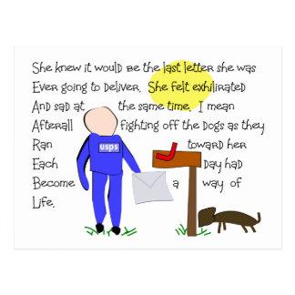 Empleado de correos que falta el arte de la Perro- Tarjetas Postales