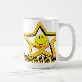 Empleado de la taza de la estrella y de la foto