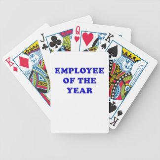 Empleado del año baraja cartas de poker