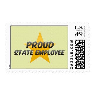 Empleado del estado orgulloso sello