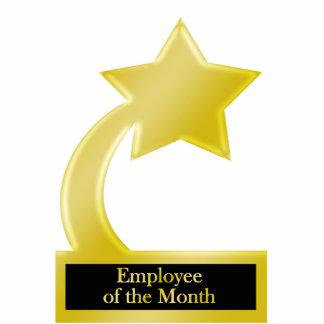 Empleado del mes, trofeo del premio de la estrella escultura fotografica