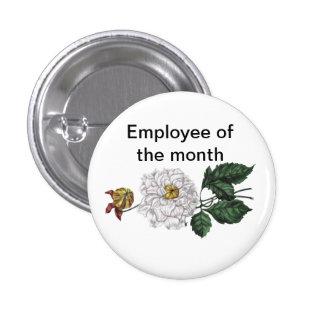 Empleado del personalizable del mes pin redondo 2,5 cm