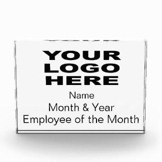 Empleado del premio del mes horizontal