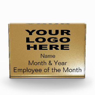 Empleado del premio del mes oro horizontal