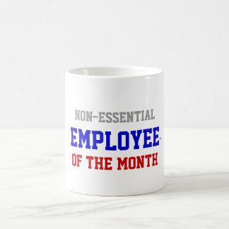 Empleado no esencial de la taza del mes