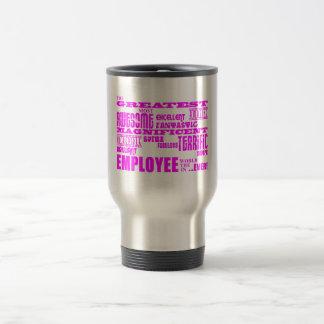Empleados: Empleado más grande rosado Taza De Viaje De Acero Inoxidable
