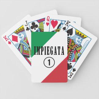 Empleados italianos para ella: Uno de Impiegata Baraja Cartas De Poker