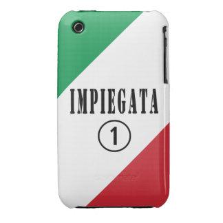 Empleados italianos para ella: Uno de Impiegata Case-Mate iPhone 3 Cobertura