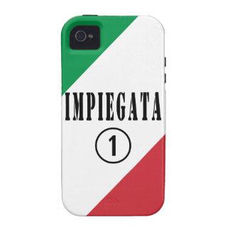 Empleados italianos para ella: Uno de Impiegata Vibe iPhone 4 Carcasas