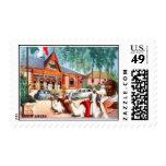 Empleo italiano del ejemplo de Etiopía Timbres Postales