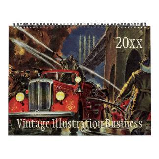 Empleos 2016 del negocio del ejemplo del vintage calendario de pared