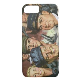 Empleos del negocio del vintage, patriotismo funda iPhone 7