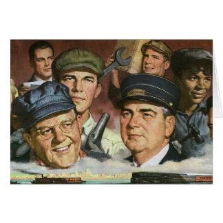Empleos del negocio del vintage, patriotismo tarjeta de felicitación