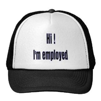 employed trucker hat