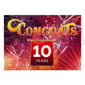 Employee 10th Anniversary - Celebration Fireworks