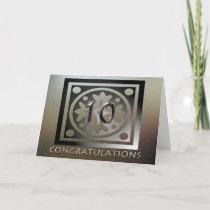 Employee 10th Anniversary Elegant Golden Card