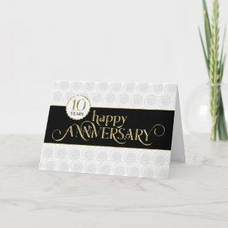 Employee 10th Anniversary - Prestigious Black Gold Card