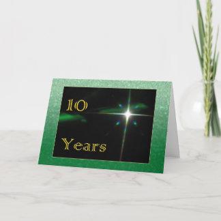 Employee 10th Anniversary Shining Star Card