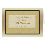Employee 15 Years of Service Greeting Card