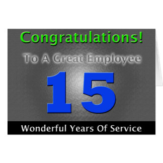 Employee 15th Anniversary Bold and Stylish Card