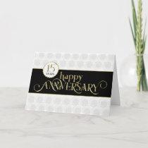 Employee 15th Anniversary - Prestigious Black Gold Card