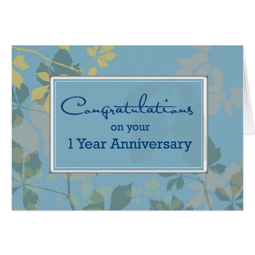 Employee 1 Year Anniversary   1 Year Work Anniversary Congratulations