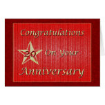 Employee 20th Anniversary Gold Star Greeting Card