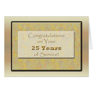 Employee 25 Years of Service or Anniversary Greeting Card