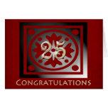 Employee 25th Anniversary Elegant Red Oak Greeting Card