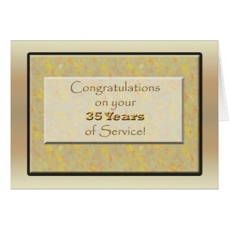 Employee 35 Years of Service or Anniversary Card