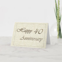 Employee 40th Anniversary New Classic Card