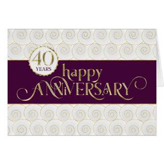 Employee 40th Anniversary - Prestigious Plum Gold Card