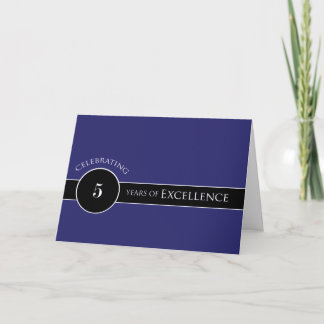 Employee 5th Anniversary Circle of Excellence Card