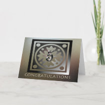 Employee 5th Anniversary Elegant Golden Card