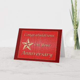 Employee 5th Anniversary Gold Star Card