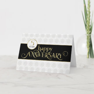 Employee 5th Anniversary - Prestigious Black Gold Card