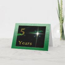Employee 5th Anniversary Shining Star Card