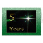 Employee 5th Anniversary Shining Star Greeting Cards