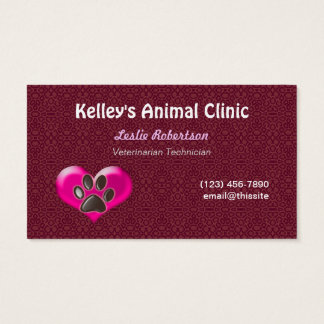 Employee Animal Services Doctor U pick Color Business Card
