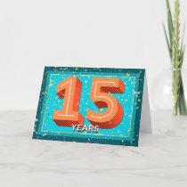 Employee Anniversary 15 Years - Bold Numbers Card