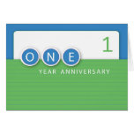 Employee Anniversary 1 Year, Circles Card