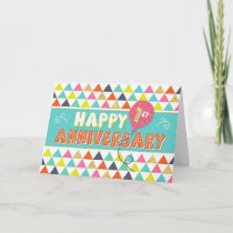 Employee Anniversary 1 Year - Colorful Pattern Card