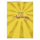 Employee Anniversary 1 Year, Sun Card