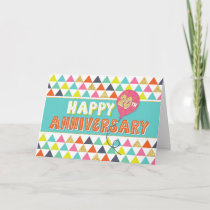 Employee Anniversary 20 Years - Colorful Pattern Card