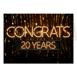 Employee Anniversary 20 Years - Neon Sign
