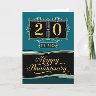 Employee Anniversary 20 Yrs Decorative Formal Jade Card