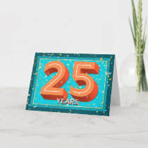 Employee Anniversary 25 Years - Bold Numbers Card