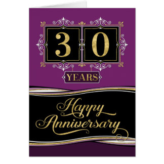 Employee Anniversary 30 Yrs Decorative Formal Plum