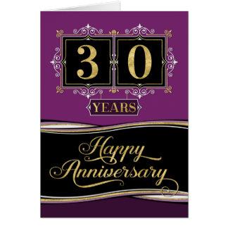 Employee Anniversary 30 Yrs Decorative Formal Plum Card